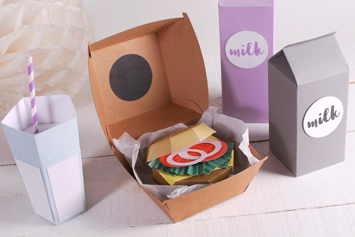 cardboard lunch boxes
